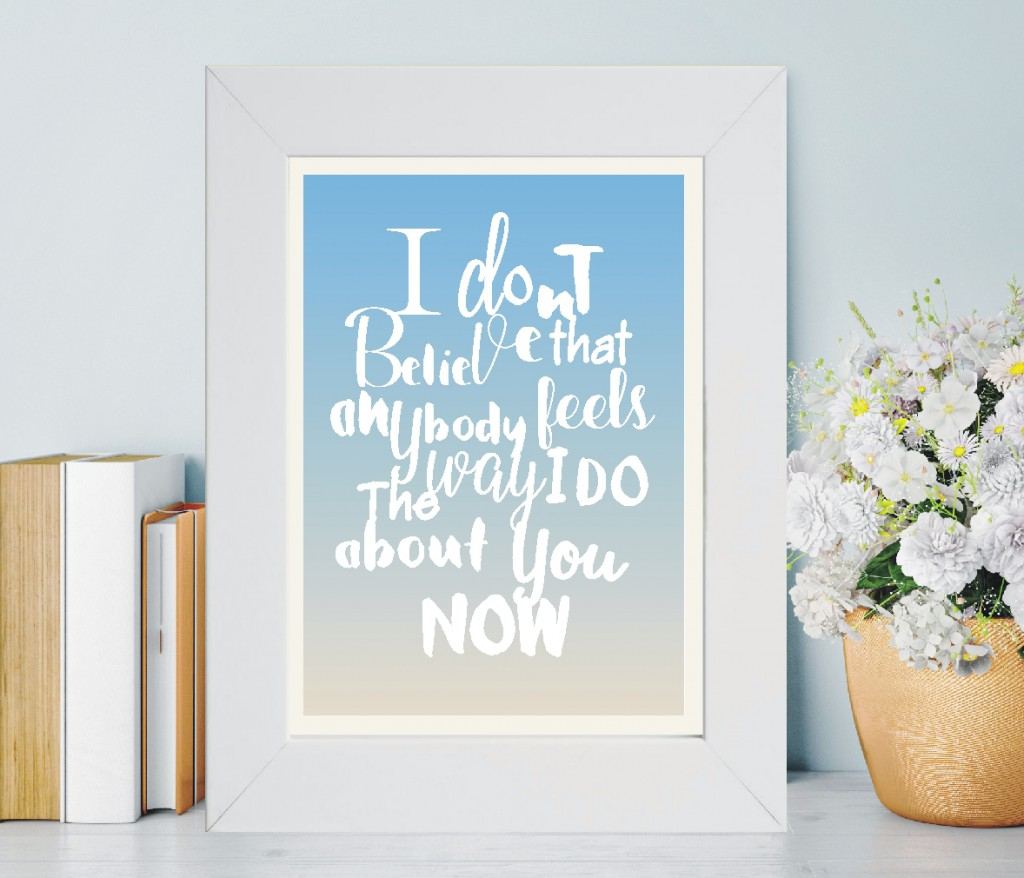Favourite Lyrics Artwork | The Keepsake Shop Blog