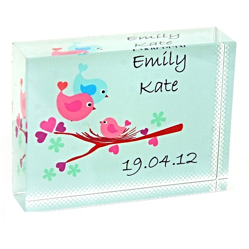 Unique New Baby Gifts Uk : Baby bird crystal unique personalised new gift or