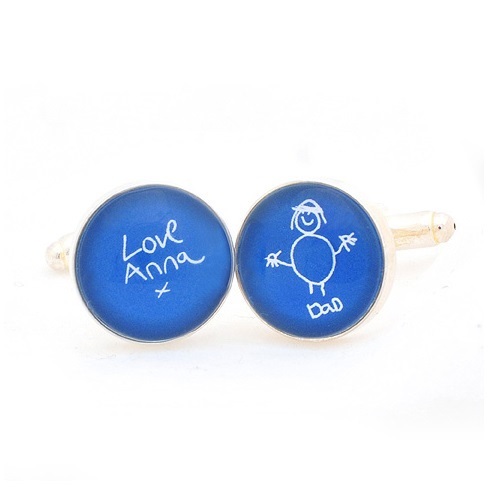 Child s artwork cufflinks cufflinks displaying a child s drawing