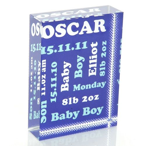 Cool Baby Boy Gifts Uk : Commemorative new baby crystal unique personalised