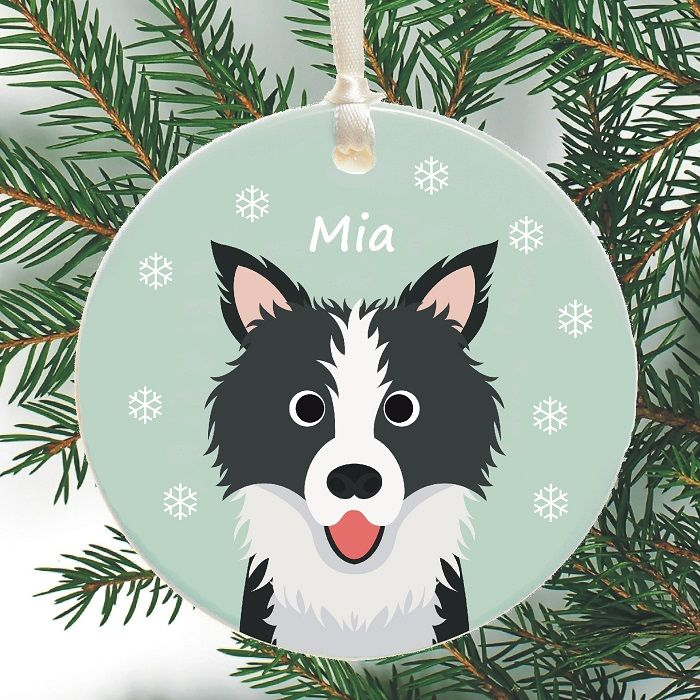 Dog Personalised Christmas Tree Decoration  Choice of Breed
