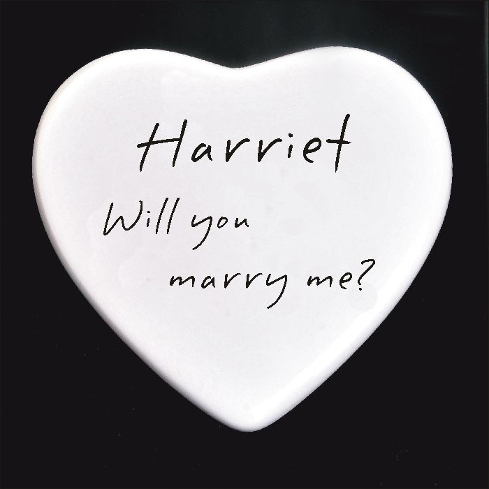 Marry Me Personalised Boxed Ceramic Heart Personalised Engagement