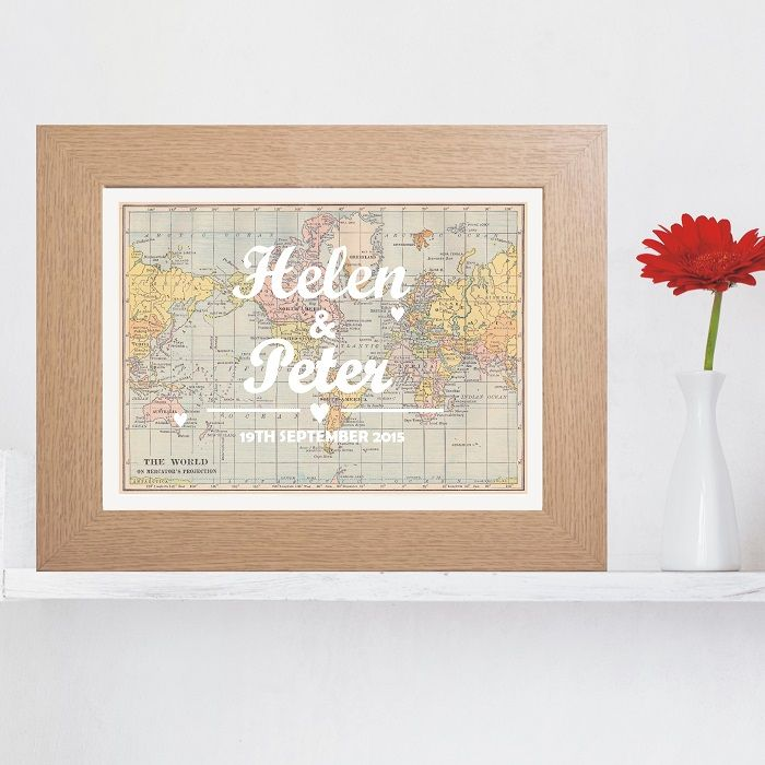 ... Typography Wedding Map PrintUnique Wedding or Anniversary Gift