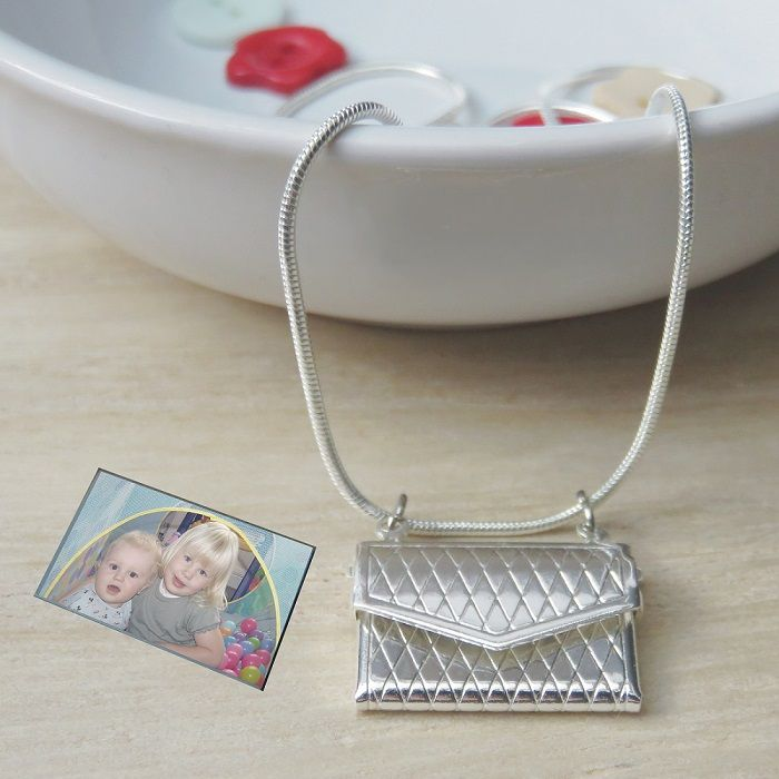 personalised lockets necklace with envelope silver letter