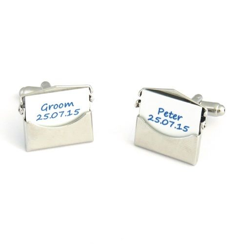 Wedding Party Envelope Cufflinks - Personalised Cufflinks For ...