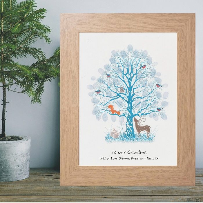 Winter fingerprint tree personalised christmas gift from for Arts and crafts gifts for 7 year olds