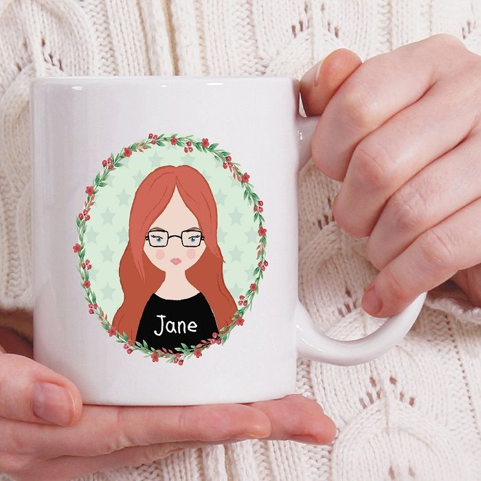 Cartoon Avatar Personalised Mug - Ideal Work Mug or Gift for a Friend,  Bridesmaid or Colleague