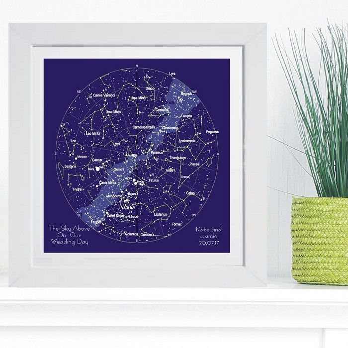 Constellation Star Chart In Box Frame Ideal And Unique Wedding Or