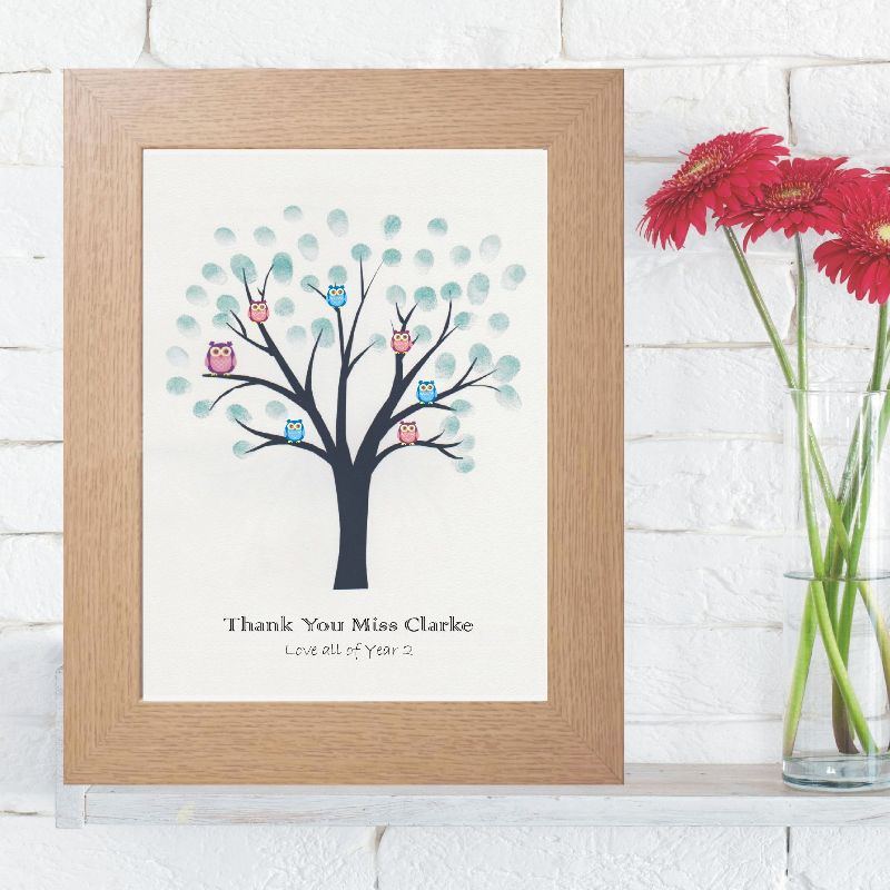 School Or Group Fingerprint Tree Personalised Teacher